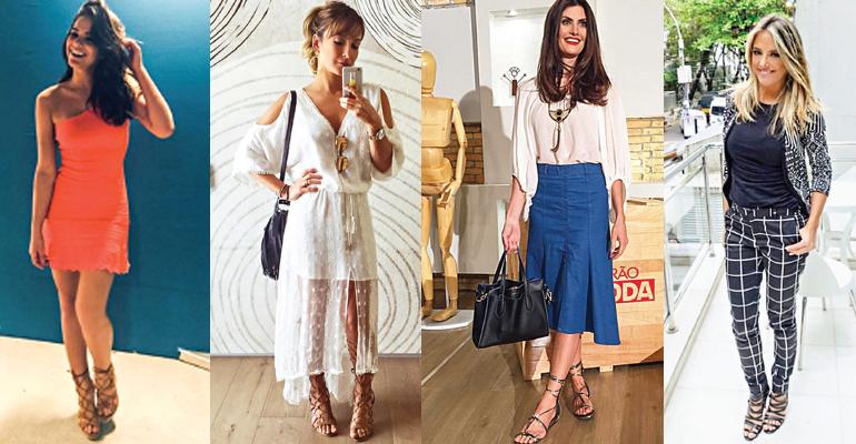 O modelo de rasteiras e sandálias cai bem tanto para mulheres discretas, quanto para quem está em busca de looks ousados