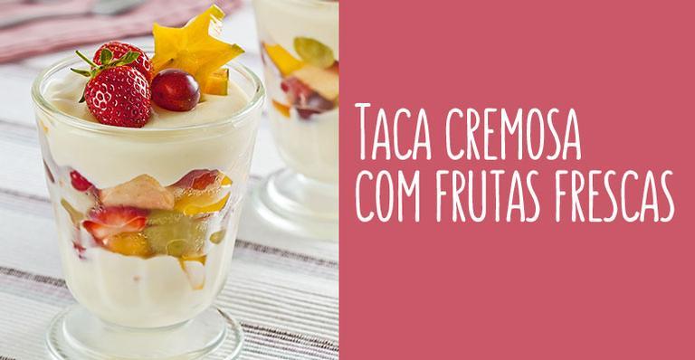 Receita de Taça cremosa com frutas frescas