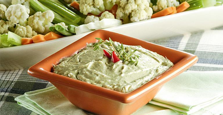 Receita de Legumes com molho de ricota