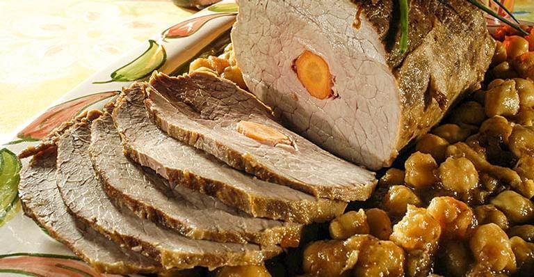 Receita de Carne de panela com grão-de-bico