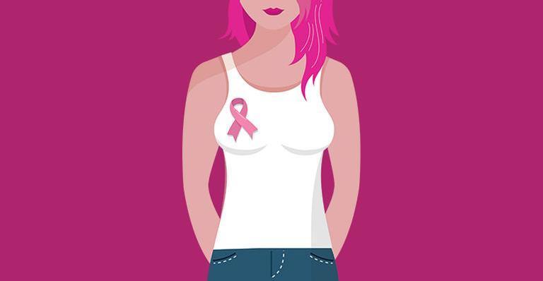 Outubro rosa alerta para o câncer de mama.
