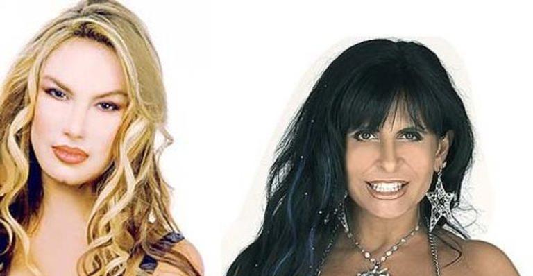 As cantoras Rosana e Gretchen