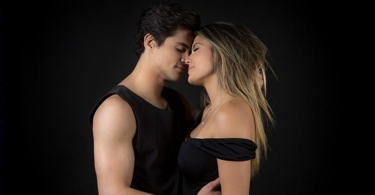 A ator Lucas Veloso e a dançarina Nathalia Mello
