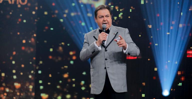 Fausto Silva durante os prêmio