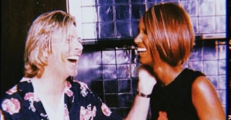 David Bowie e a modelo Iman