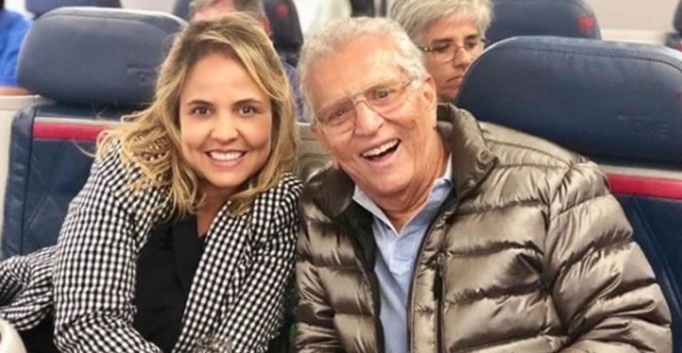 Renata Domingues e Carlos Alberto de Nóbrega em férias pelo Nordeste