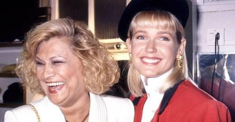 Xuxa e Hebe nos bastidores do 'Programa da Xuxa', em 1993