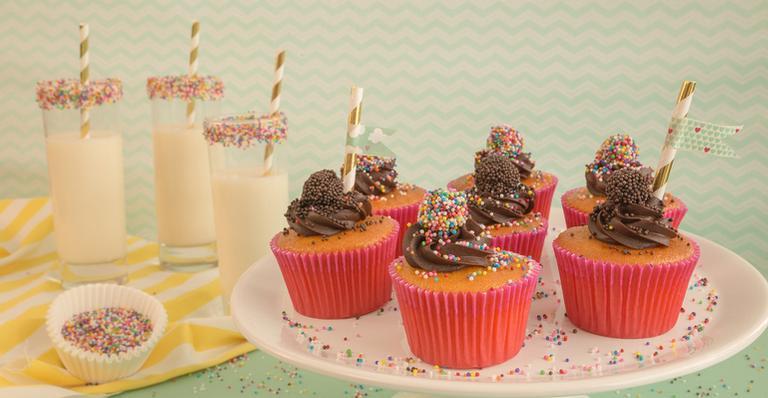Cupcake de cenoura e brigadeiro