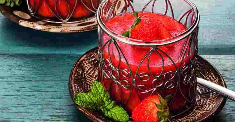 Gelatina especial de morango