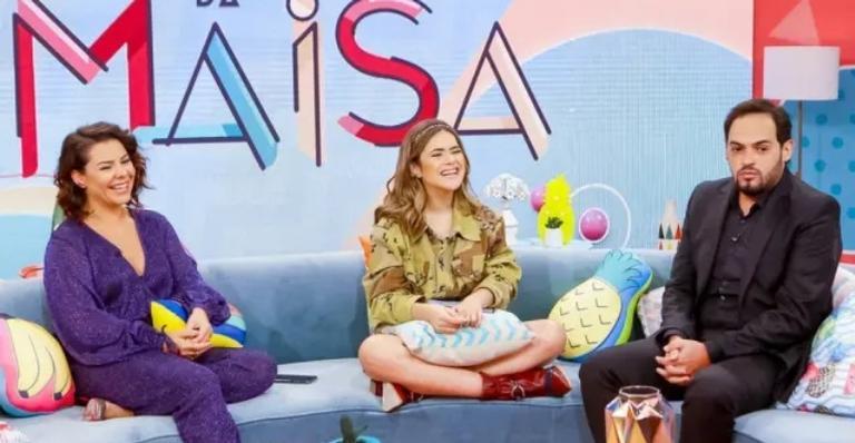 Maisa recebeu Fernanda Souza e Matheus Ceará para seu programa de estreia, no SBT