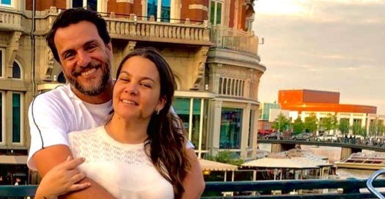 Rodrigo Lombardi e esposa
