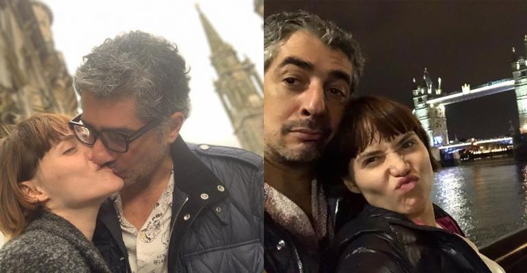 Letícia Colin aproveita férias na Europa com marido e mostra barriga