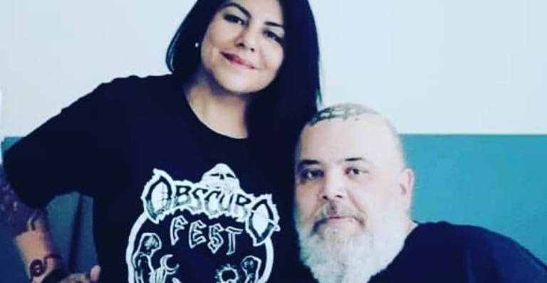 João Gordo e esposa