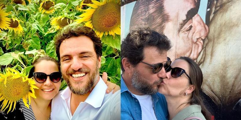 Rodrigo Lombardi felicita esposa pelo aniversário