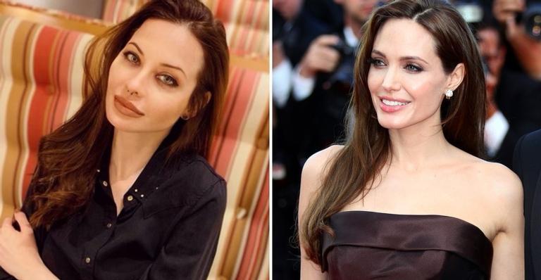 A modelo mineira Lu Reis ficou surpresa com repercussão de sua semelhança com Angelina Jolie.