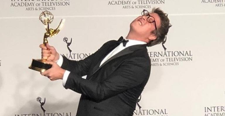 Fábio Porchat celebrou o Emmy Internacional para o canal 'Porta dos Fundos'
