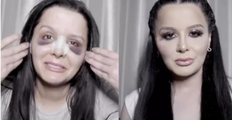 Cantora Maraisa surpreende ao surgir com visual diferente e mostra efeito da maquiagem