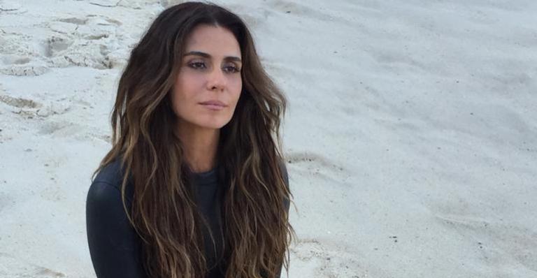 A atriz publicou fotos do mar nas redes sociais