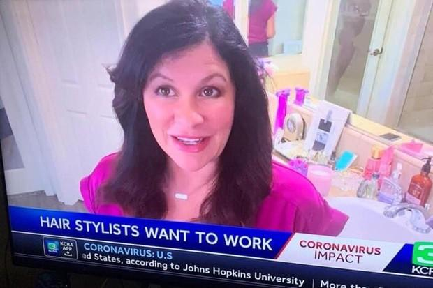 Melinda Meza estava falando sobre cuidados caseiros com o cabelo