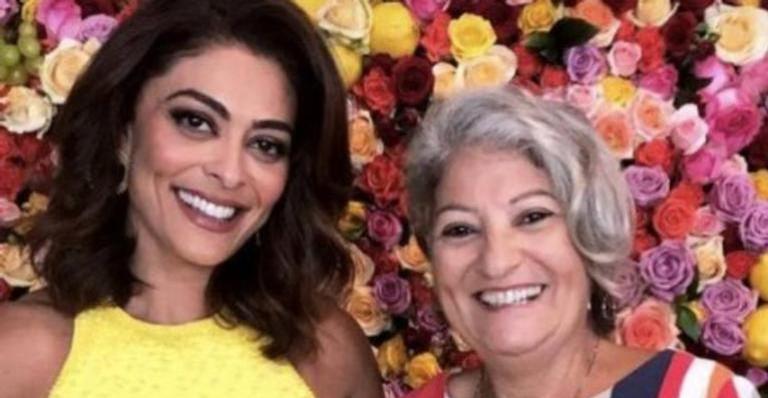 A atriz contou como está o estado de saúde da mãe, Regina Couto