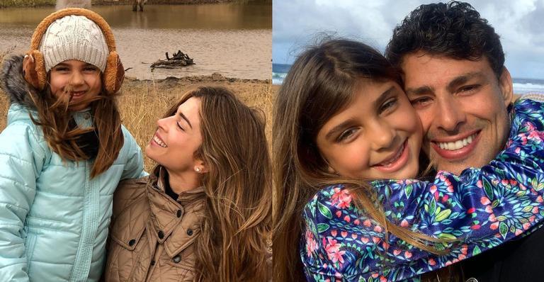 O ex-casal compartilhou fotos inéditas com a pequena Sofia