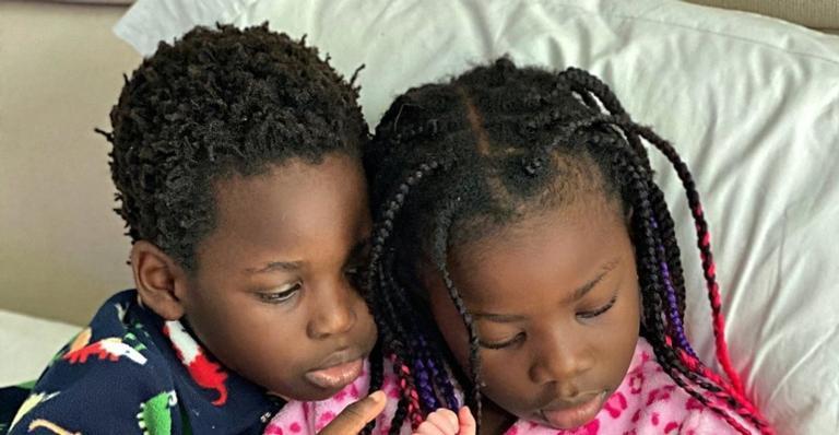 Giovanna Ewbank posta clique inédito dos três filhos juntinhos: ''Meus três anjos''
