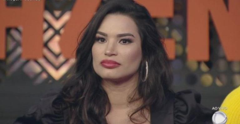 Modelo teve uma crise após receber oito votos e ser indicada à Roça no reality.