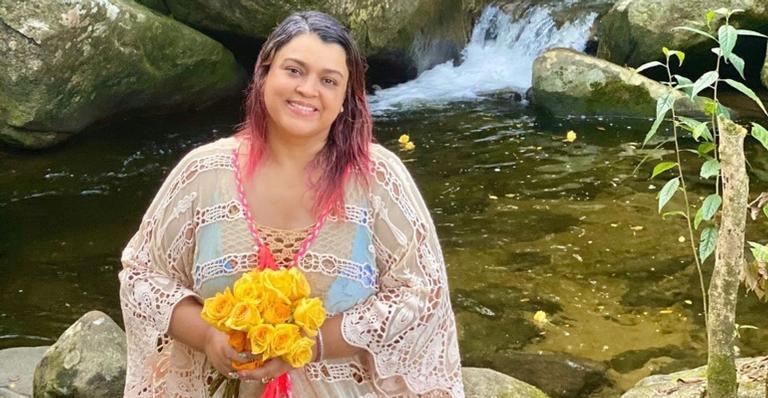 A cantora celebrou a cura e agradeceu pela sua saúde