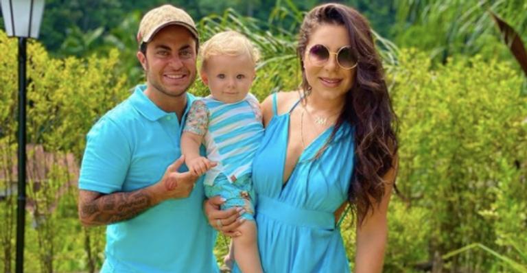 Andressa e marido, Thammy Miranda, passarão a primeira festa natalina com filho Bento