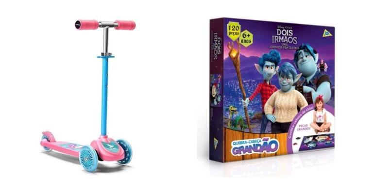 Selecionamos brinquedos para dar de presente para as crianças