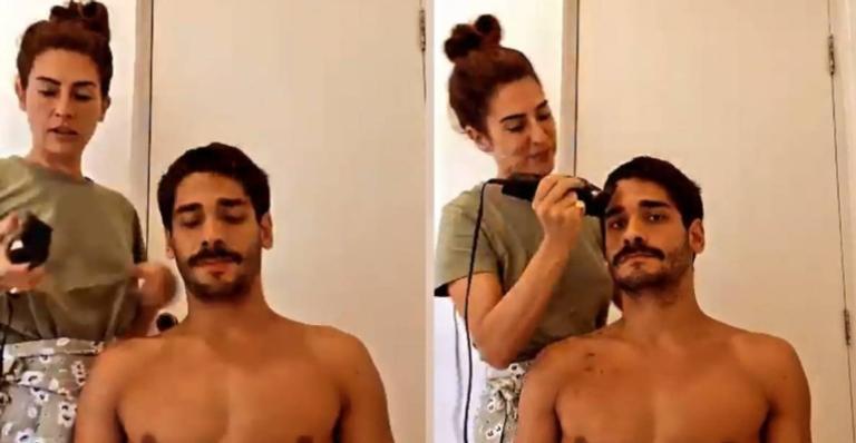 Atriz está passando o período de isolamento social junto do namorado, Victor Sampaio