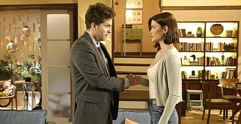 O relacionamento do casal ficará abalado nas próximas cenas da novela