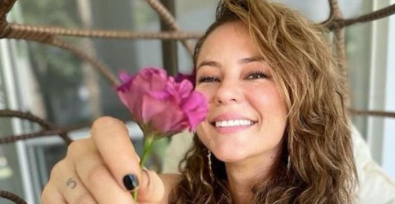 A atriz, de 39 anos, compartilhou um registro do momento em suas redes sociais